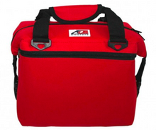 AO Canvas 12 pack soft cooler bag red leakproof