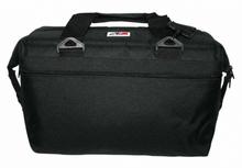AO 24 Pack Canvas Cooler Soft Bag Black