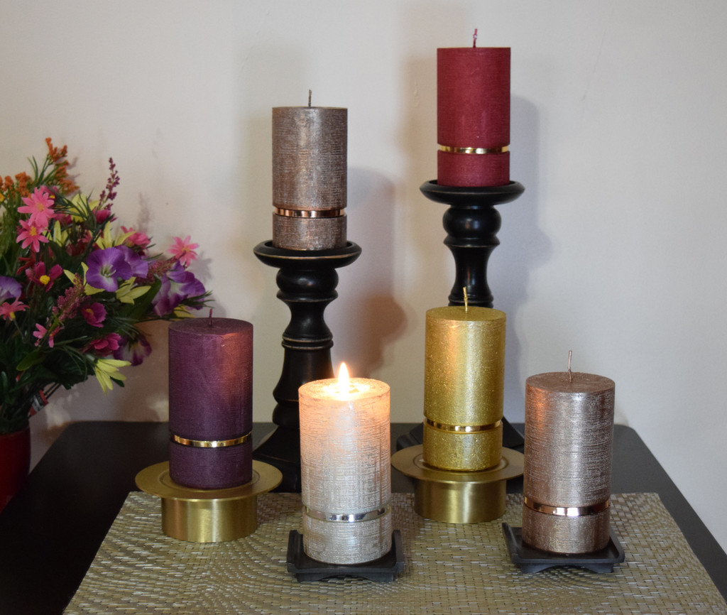 The Pure Collection of the Premium  Dripless German pillar candles