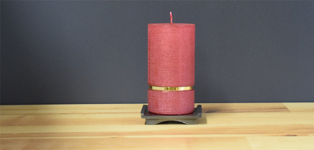 Bordeaux Dripless Pillar Candle