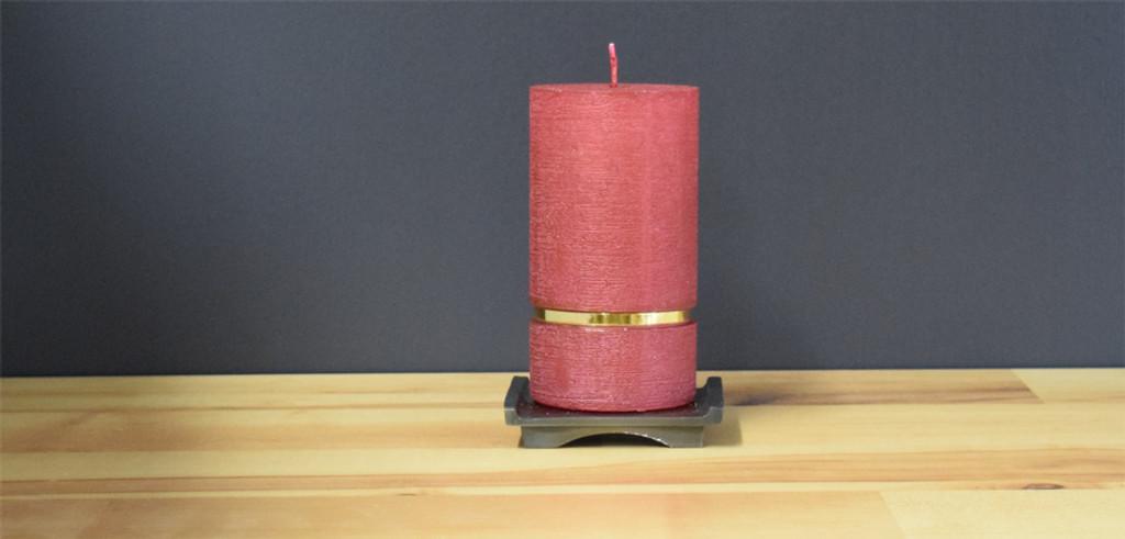 Bordeaux Dripless Deluxe German Pillar Candle