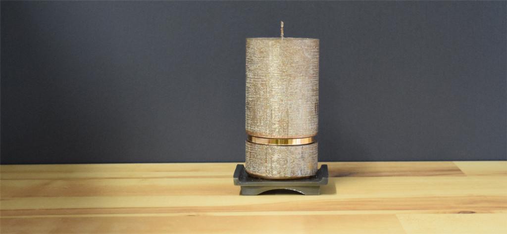 Bronze Dripless Deluxe German Pillar Candle