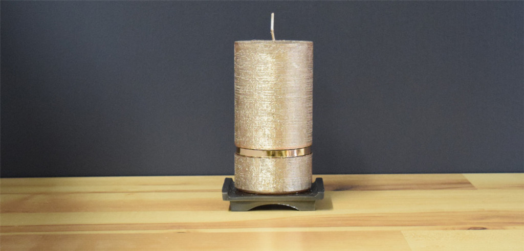 Copper Dripless Pillar Candle