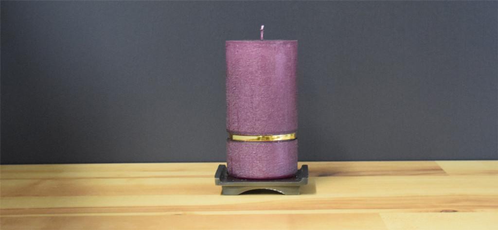 Plum Dripless Deluxe German Pillar Candle