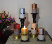 Elegant unscented german pillars in assorted colors