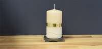 Dripless Color Sand German pillar candle