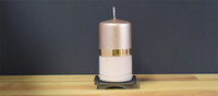 Dripless Copper German pillar candle