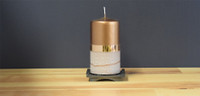 Unscented Bronze German pillar candle