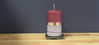Unscented Bordeaux German pillar candle