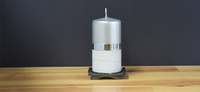 Unscented Silver German pillar candle