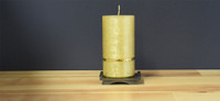 Gold Dripless Deluxe German Pillar Candle