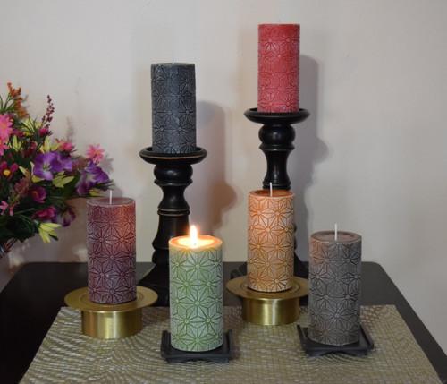 Rustic Dripless German Pillar candles