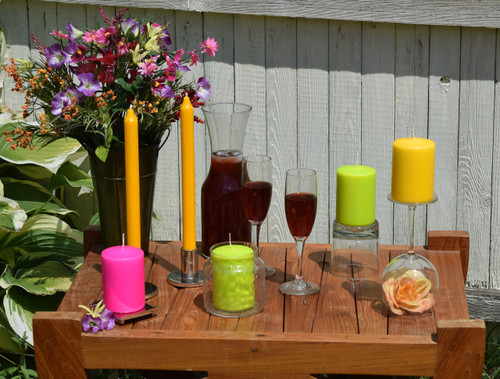 3 Outdoors decorative items with candles for this summer