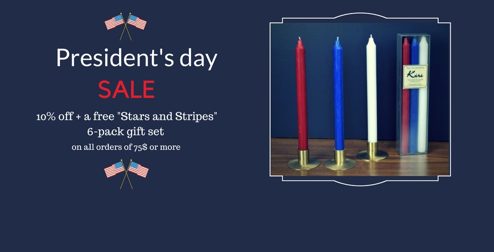 President's day candle discount
