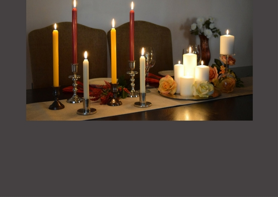 Dripless dinner candles and pillar candles for your decoration