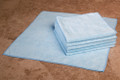 16 x 16 Microfiber Terry Towel (blue, 200/case)