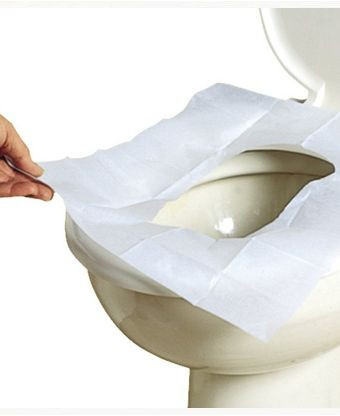Biodegradable Paper Toilet Seat Covers - 200 Per Pack