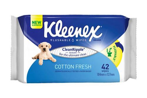 Kleenex Flushable Wet Scented Cleansing Cloths - 42 Per Pack - 10 Packs