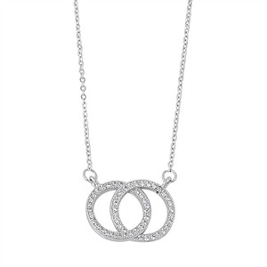 Circle of Love and Life Sterling Silver CZ Necklace