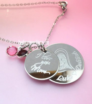 Mom Jewelry Engraved Disc with Children's Names