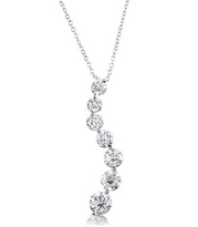 Journey Of Life  Sterling Silver Pendant Necklace with CZ