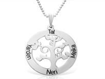 Personalized Mom Tree of Life Family Necklace