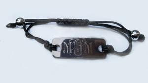 Engraved Monogram  Knot Bracelet