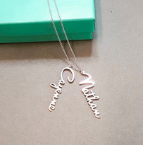 Venus Vertical Name Necklace