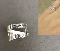 Personalized Wrap Around Hug Ring