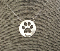 Dog or Cat Paw, Pet Paw Necklace