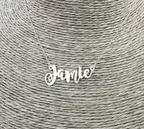 Jamie Swirly Name Nekclace
