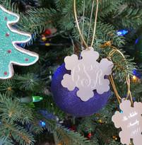 Personalized Monogram Snowflake Ornament