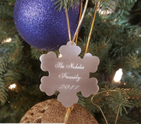 Personalized Snowflake Christmas Tree Ornament
