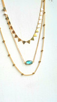Santa Rosa Layering Set With Aquamarine Crystal and Spikes