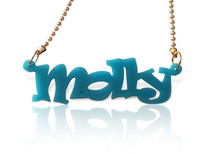 Acrylic Name Necklace Molly Style