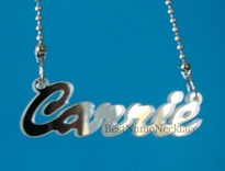 Carrie Style Acrylic Name Necklace