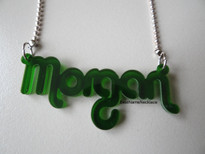 Morgan Acrylic Name Necklace