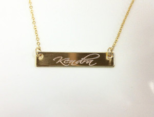Gold bar necklace bestnamenecklace personalized gold bar necklace aloadofball Gallery