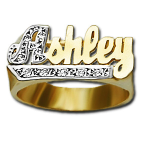 compressed name ring products stackable stacking rings gold