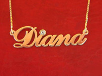 Diana Name Necklace with Swarovski Element Crystal