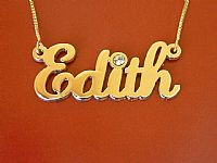 Edith Name Necklace with Swarovski Element Crystal