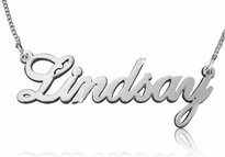 Cursive Lindsay Name Necklace