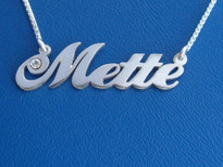 Mette Name Necklace with Swarovski Crystal
