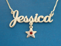 Jessica star charm name necklace