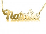 Natalie Gold Plated Name Necklace
