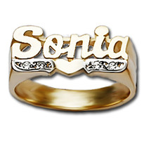 Personalized Diamond Name Ring Sonia Style
