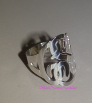 Personalized Monogram Name Ring Small