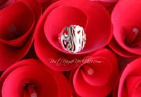 Interlocking MOnogram ring