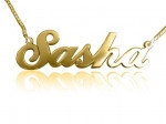 Sasha Gold Plated Name Necklace