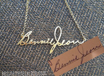 Handwriting Signature Name Necklace, Memorial Necklace, Children's Art Personalized Necklace